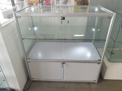 Glass Display Cabinet, LED down lights and side lights included