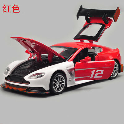 Aston Martin Vantage GT3 Model Cars Toys 1:32 Sound & Light Alloy Diecast Red