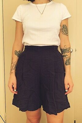 Vintage High Waist Shorts Navy Country Road Size 8 / 10
