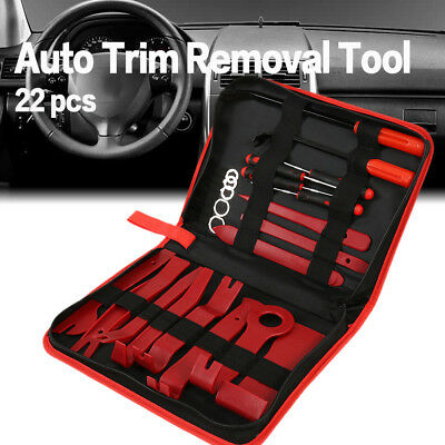 22Pc Universal Pry Removal Open Tools Kit Car Dash Door Trim Panel Clip Pry Tool