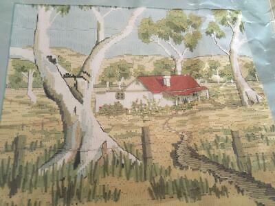 Anchor Embroidery/tapestry Kit -Farmhouse At Yandoit- Long Stitch