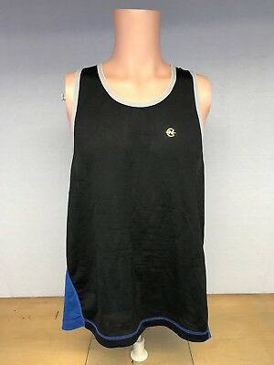 1cb83d5d12ed0 Vintage 90 s Mens Nautica Competition Spell Out Blue Black Tank Top Shirt  Medium