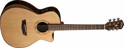 Natural Musical Instruments & Gear Washburn Wlg16s Grand Auditorium 6-string Acoustic Guitar Acoustic Electric Guitars