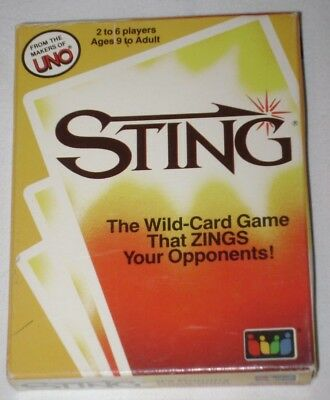 STING: The Wild-Card Game That Zings Your Opponents from the Makers of UNO 1984