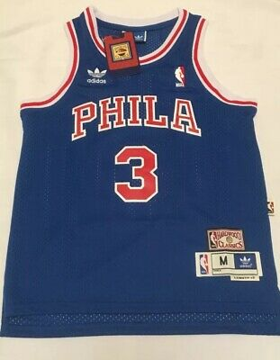 sale retailer 5e266 bc3e8 ALLEN IVERSON PHILADELPHIA 76ers Youth Jersey Mitchell & Ness Hardwood  Classics