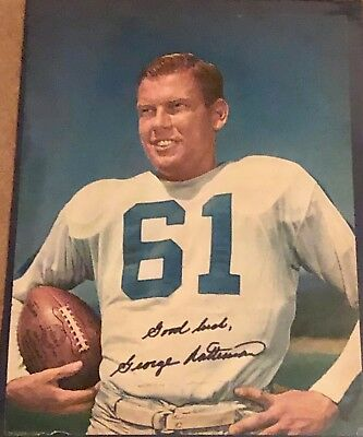 George Ratterman Signed 8 X 10 Color Picture- 1950 Ny Yanks Football Qb- Rare!