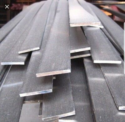 "1/4""×2"" A36 .250 Steel Hot Roll Flat Bar 5 Pcs 12"" Lengths"