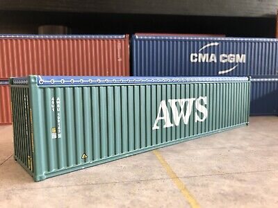 1/50 Scale Container AWS 40' Open Top With Tyres O Gauge Loads 1:50 Diorama