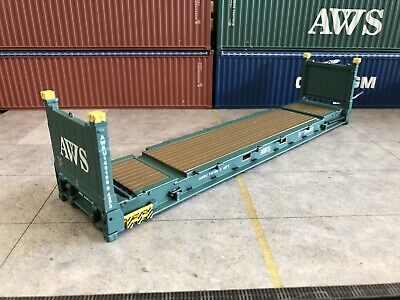 1/50 Scale 40' Flat Rack AWS