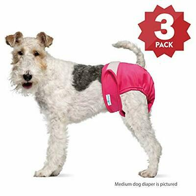 Paw Inspired Ultra Protection Washable Dog Diapers, Reusable, Female (3 Count, M