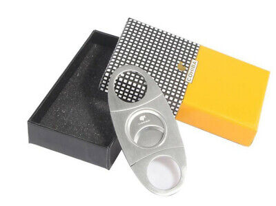 Double Blades Cigar Cutter Knife Stainless Steel Scissors Portable COHIBA