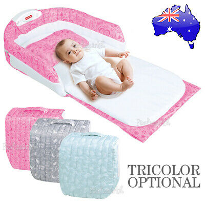 BaBy Infant Co-Sleeper Sperated Portable Bed Infant Sleeper Bassinet +Nightlight