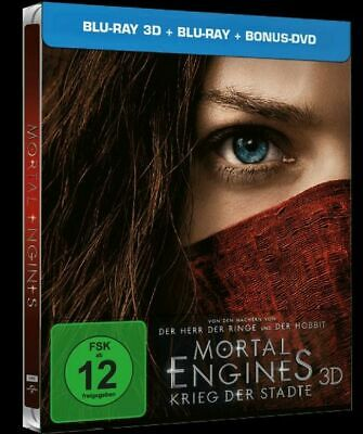 Mortal Engines (3D + 2D Blu-ray Steelbook) BRAND NEW
