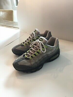 super popular 897f8 2bee8 Men s NIKE AIR MAX 95 Neon Green Cool Grey Size 8.5