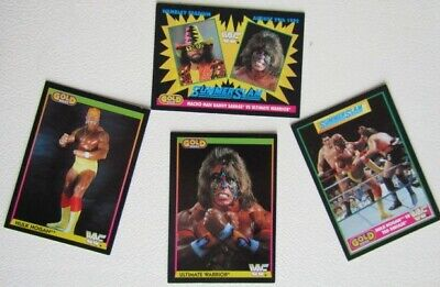 Merlin 1992 ~ W.W.F Summerslam 92 Gold series 1 Cards Card Variants (e7)