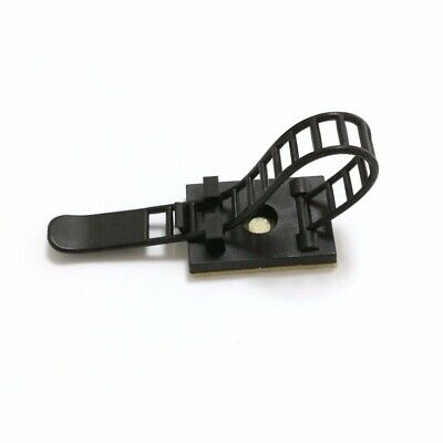 Cable Clips Self-Adhesive Cable Clamps Straps With Optional Screw Mount 10 pc