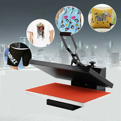 16x24 Timer Digital Clamshell Heat Press Machine Sublimation Transfer T-shirt