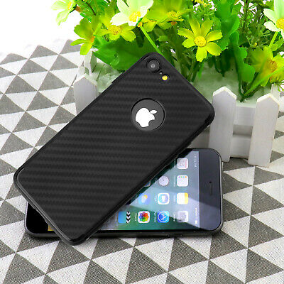 Luxury Carbon Fibre Bumper TPU Back Case Cover Black Supply For Apple iPhone 7