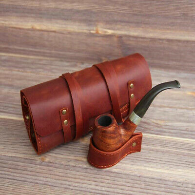 Tobacco Pouch Leather Case Cigarette Bag Holder Pipe Roll Handmade Gift
