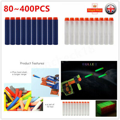 80~400X Gun Soft Refill Bullets Darts Round Head Blasters For Nerf N-Strike Toy