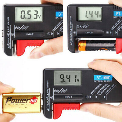 Universal Digital Battery Tester Batery Checker for 9V 1.5V AA AAA Cell Button
