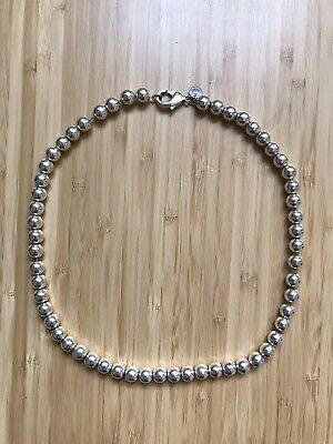 790be89ff TIFFANY & CO. Sterling Silver HardWear Bead Ball Necklace 18