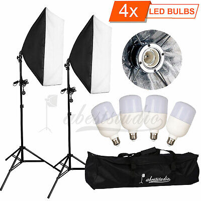 Photography Studio LED 100W Softbox Continuous Lighting Stand Kit Photo Video