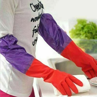 Extra Long Washing Gloves Cleaning Warm Waterproof Rubber Glove Gift Simple