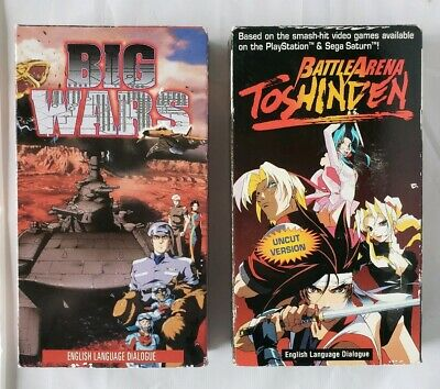 BATTLEARENA TOSHINDEN & Big Wars Anime VHS Video Tapes US Manga English  Language
