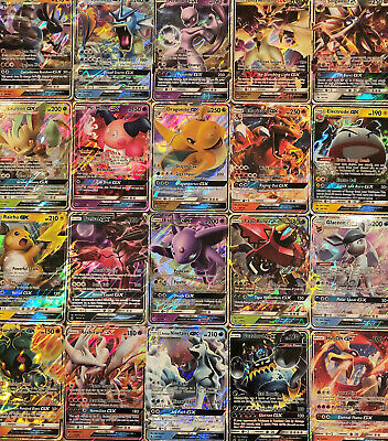 60 Pokemon Cards Bulk Lot - 1x GX or EX or MEGA Ultra Rare +10 Rare & Holo Cards