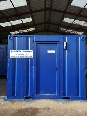 10ft Long 8ft Wide Blue Office Unit / Security Cabin / Store - Newly Refurbished