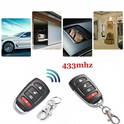 Universal Replacement Garage Door Car Gate Cloning Remote Control Key Fob 433 AU