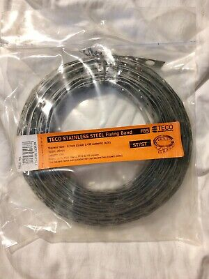 Teco Stainless Steel Fixing Band 0.7mm (Grade 1.430 Aust St/St) W 20mm  L 10m
