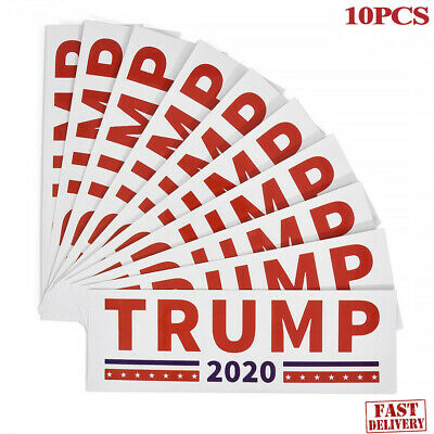 10Pc 2020 Donald Trump For President Make America Great Again Bumper Sticker AUT