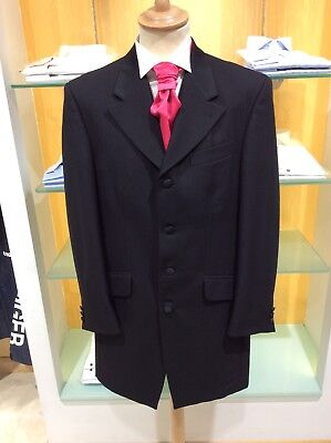 Magee Clothing Black Prince Edward 3/4 Length Wool EX HIRE Stock Good 42S