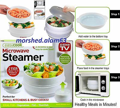 New 2 Tier Microwave Steamer Perfect