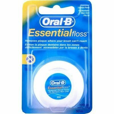 Oral B Essential Regular Dental Floss Unwaxed - 50m