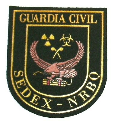 PARCHE POLICIA GUARDIA CIVIL SEDEX-NRBQ EOD ,  spain police patch