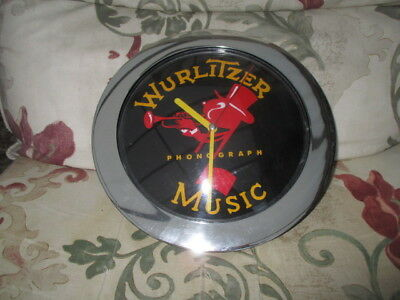 Outer Rim Chrome Coloured Plastic Wurlitzer Johnnie One Note Wall Clock