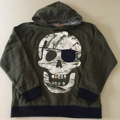"Gymboree Awesome Boys Green ""SKULL"" Hoodie. Size 10-12 years. So Comfy!"