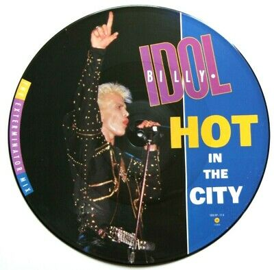 """MINT! BILLY IDOL Hot In The City 12"""" VINYL PICTURE PIC DISC"""
