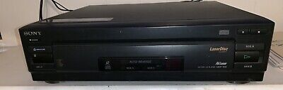 Sony Laserdisc System CD CDV LD Player MDP-500 + Star Wars Trilogy - Works Great