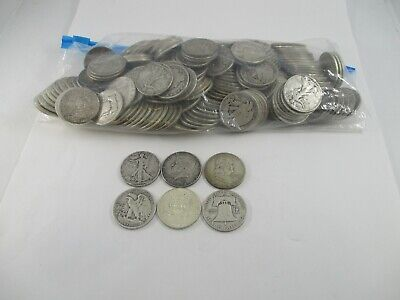 U.S. 90% Silver Half Dollar Coins 1964-Before Lot of 200 Coins Face Value $100