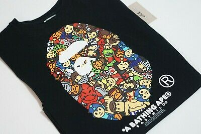 479b4555 Capcom x A Bathing Ape Head Tee Bape - Black Size Medium Pre-owned AUTHENTIC