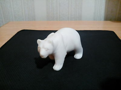 Statuette of a bear carved from marble One-piece marble USSR ~1950-1980