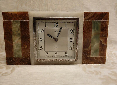 Antique Old French Made DEP Art Deco Marble Mantle Clock