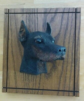 Vintage Kennel Favorites Wall Plaque Doberman Hand Painted Made in U.S.A. 1983
