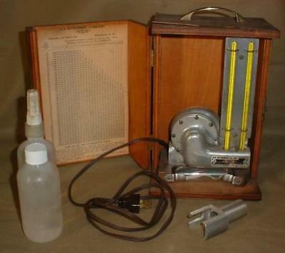 Rare Vintage H-B Instrument Co. Relative Humidity Wet Dry Thermometer Works!