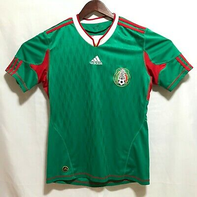 3b7d0fe04f0 100% Auth Adidas Mexico National Team Soccer Jersey Sz S Green Red World Cup