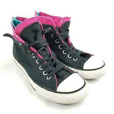 eab96f98f05b7 CONVERSE PRO BLAZE Strap hi top leather sneakers. Size 3 youth ...